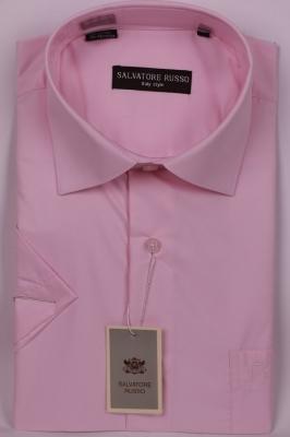 Классическая однотонная розовая рубашка (Арт. SDK 5148K)