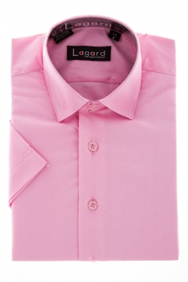 Детская однотонная розовая рубашка (Арт. B SKY 0686SK)