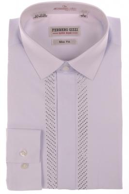 Вечерняя белая рубашка (Арт. SDK 3554)