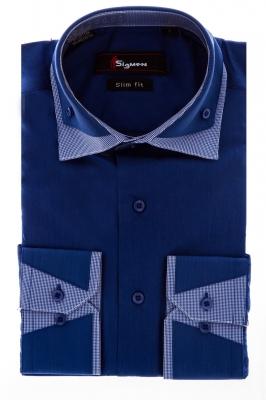 Молодежная рубашка с декоративным воротником (Арт. SDK 5593)