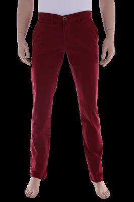 Брюки хлопковые красные (Арт. JEANS 0012)