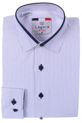 Детская рубашка в полоску с декоративным воротником (Арт. B SKY 2026)