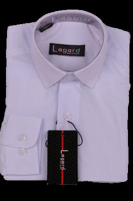Детская однотонная белая рубашка (Арт. B SKY 1364)