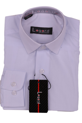 Детская однотонная белая рубашка (Арт. B SKY 1248 S)