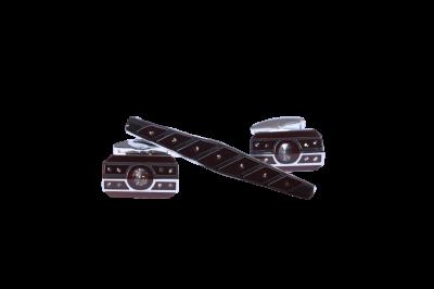 Запонки и зажим для галстука (Арт. Набор 76)