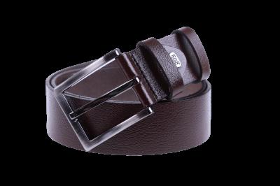 Мужской кожаный коричневый ремень (Арт. REM-04)