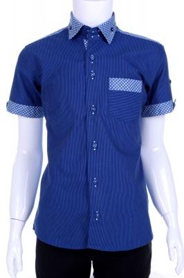 Рубашка в полоску с  воротником в клетку (Арт. B T 0578K)