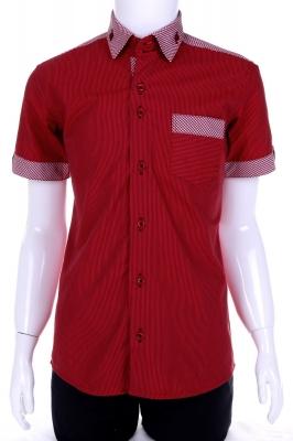 Рубашка в полоску с воротником в клетку (Арт. B T 0577K)