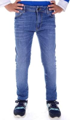 Стильные джинсы для мальчика светло-синего цвета  (Арт. DJ 1571)