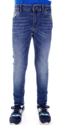 Стильные джинсы для мальчика синего цвета  (Арт. DJ 1572)