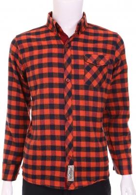 Хлопковая рубашка в клетку для мальчика  (Арт. ТВ 1717)