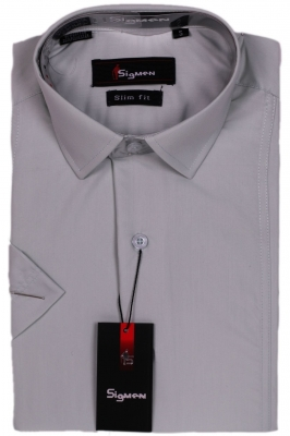 Молодежная однотонная рубашка (Арт. SDK 5413K)