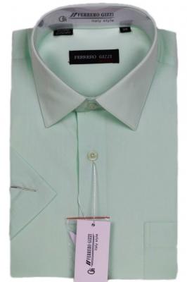 Классическая однотонная светло салатовая рубашка (Арт. SKY 1070K)