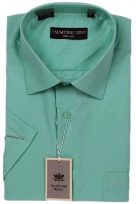 Классическая однотонная светло зеленая рубашка (Арт. SDK 5853K)