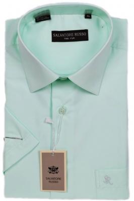 Классическая однотонная светло-салатовая рубашка (Арт. SDK 5480K)