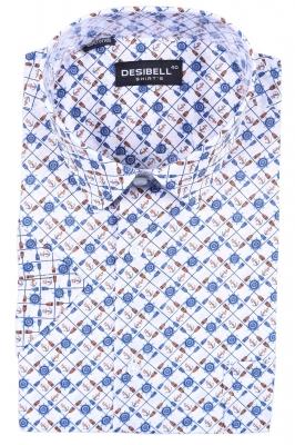 Классическая рубашка в рисунок (Арт. SDK 5364K)