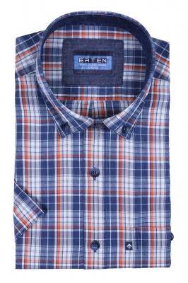 Рубашка в клетку с коротким рукавом (Арт. T 2377K)