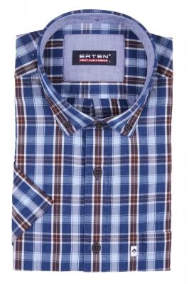 Рубашка в клетку с коротким рукавом (Арт. T 2380K)