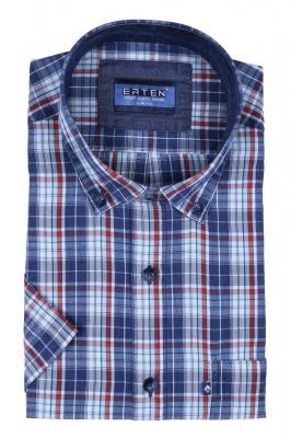 Рубашка в клетку с коротким рукавом (Арт. T 2381K)