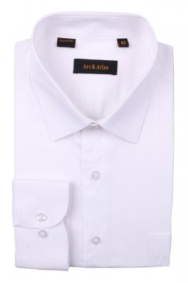 Классическая однотонная  рубашка  с длинным рукавом  (Арт. OD-002)