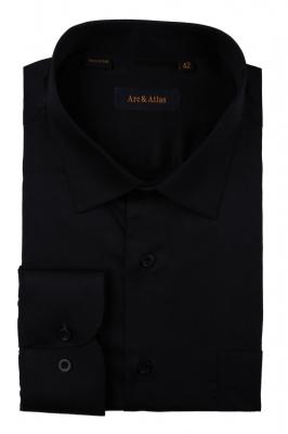 Классическая однотонная  рубашка  с длинным рукавом  (Арт. OD-004)
