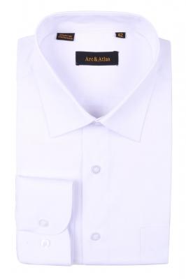 Классическая однотонная  рубашка  с длинным рукавом  (Арт. OD-005)