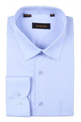 Классическая однотонная  рубашка  с длинным рукавом  (Арт. OD-006)
