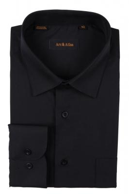Классическая однотонная  рубашка  с длинным рукавом  (Арт. OD-008)