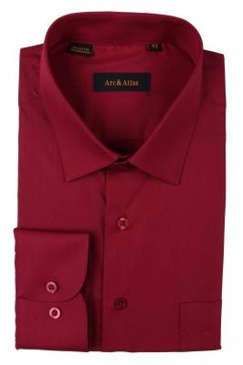 Классическая однотонная  рубашка  с длинным рукавом  (Арт. OD-009)