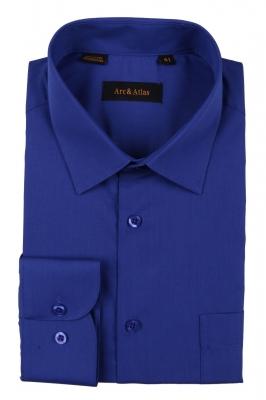 Классическая однотонная  рубашка  с длинным рукавом  (Арт. OD-013)