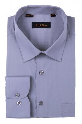 Классическая однотонная  рубашка  с длинным рукавом  (Арт. OD-011)