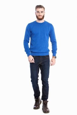Мужской однотонный голубой свитер (Арт. POS 2672)