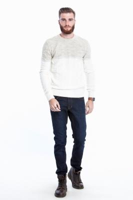 Мужской комбинированный свитер (Арт. POS 2675)