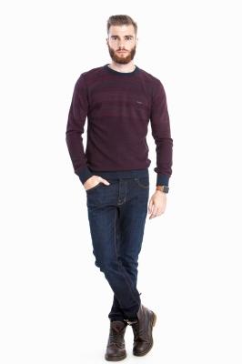 Стильный комбинированный свитер (Арт. POS 2680)