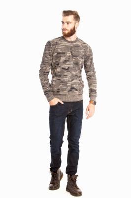 Стильный комбинированный свитер (Арт. POS 2681)