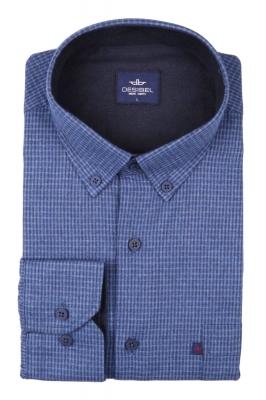 Классическая рубашка в клетку с длинным рукавом (Арт. T 2730)