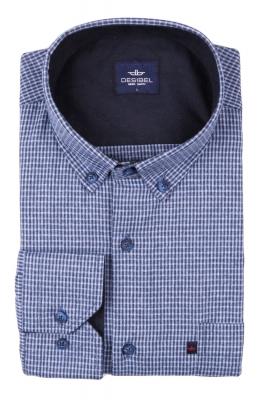 Классическая рубашка в клетку с длинным рукавом (Арт. T 2731)