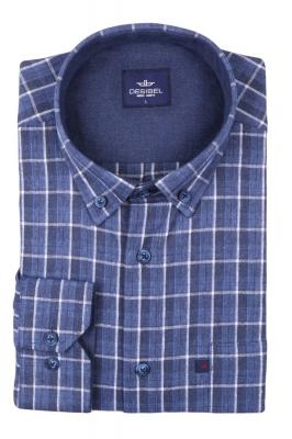 Классическая рубашка в клетку с длинным рукавом  (Арт. T 2738)