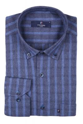 Классическая рубашка в клетку с длинным рукавом  (Арт. T 2743)
