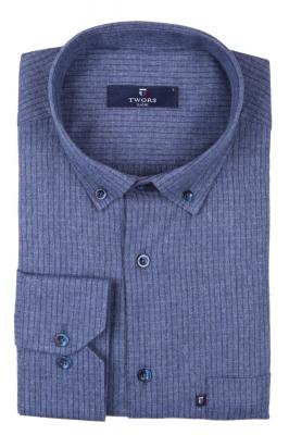 Классическая рубашка в клетку с длинным рукавом  (Арт. T 2744)