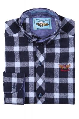 Хлопковая рубашка в клетку для мальчика (Арт. ТВ 2825)