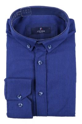 Мужская кашемировая рубашка в мелкую клетку (Арт. T 2841)