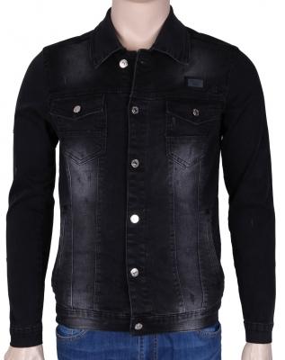 Мужская джинсовая куртка темно-серого цвета  (Арт. TKY 3041)