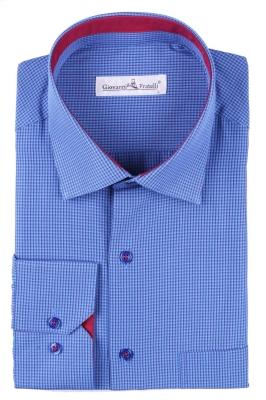 Мужская классическая рубашка в клетку (Арт. T 3088)