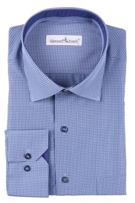 Мужская классическая рубашка в клетку (Арт. T 3089)