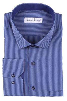 Классическая мужская рубашка в полоску с длинным рукавом  (Арт. T 3091)