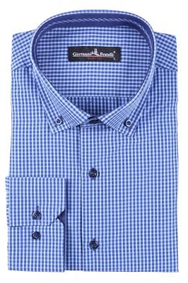 Классическая рубашка в клетку с длинным рукавом  (Арт. T 3096)