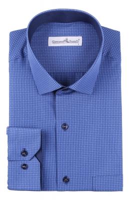 Классическая рубашка в клетку с длинным рукавом  (Арт. T 3097)