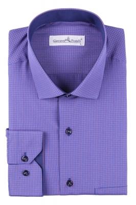 Классическая рубашка в клетку с длинным рукавом  (Арт. T 3098)
