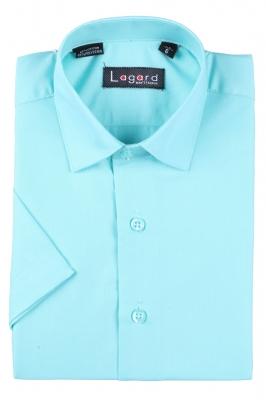 Детская однотонная рубашка с коротким рукавом (Арт. B SKY 1764K)